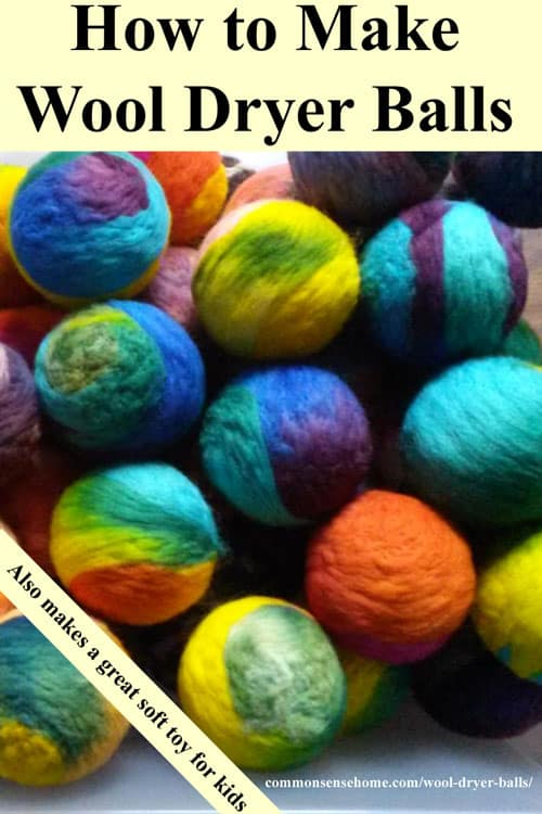How to Make Wool Dryer Balls to fluff and soften your clothes, reduce drying time and save energy. Eco-Friendly, non-toxic, can also be used as a soft toy.