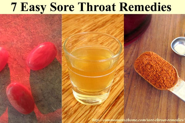 Easy Sore Throat Remedies