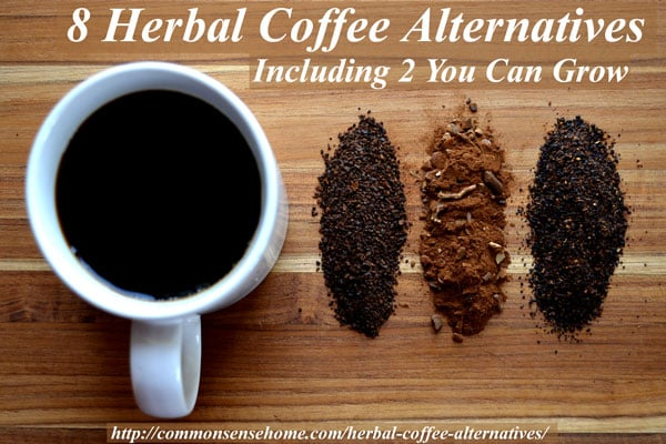 8 Herbal Coffee Alternatives, Including 2 You Can Grow - Check out these natural, caffeine free, herbal coffee alternatives for a healthier morning habit or a warm and toasty drink that won't keep you up at night.