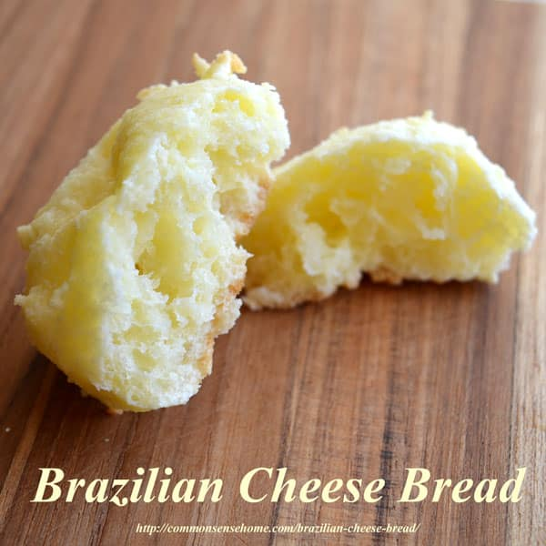 Brazilian Cheese Bread or Rolls, also known as Pao de Queijo, makes a great gluten free hamburger bun or a delicious cheesy bread to accompany any meal.