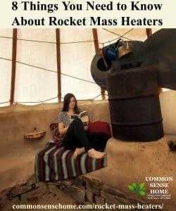 rocket mass heater at work