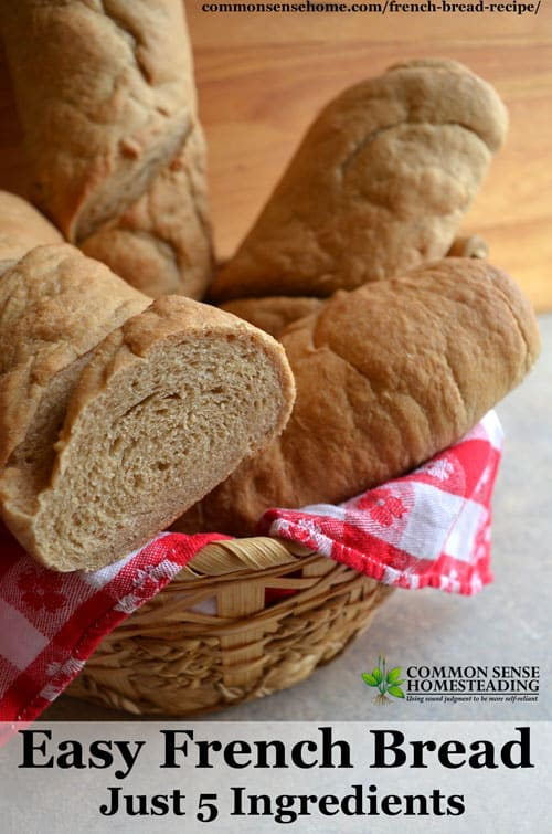 Homemade crusty French bread recipe - This recipe is perfect for making edible bread bowls, or to accompany soup or a hearty stew. Makes great French toast!