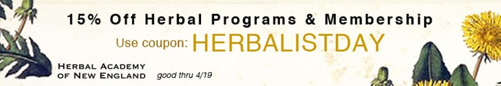 Herbal Programs and Herbarium Membership Discount