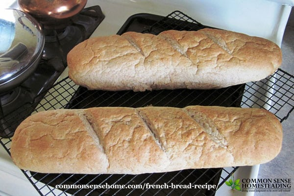 Homemade French bread, fresh out of the oven.
