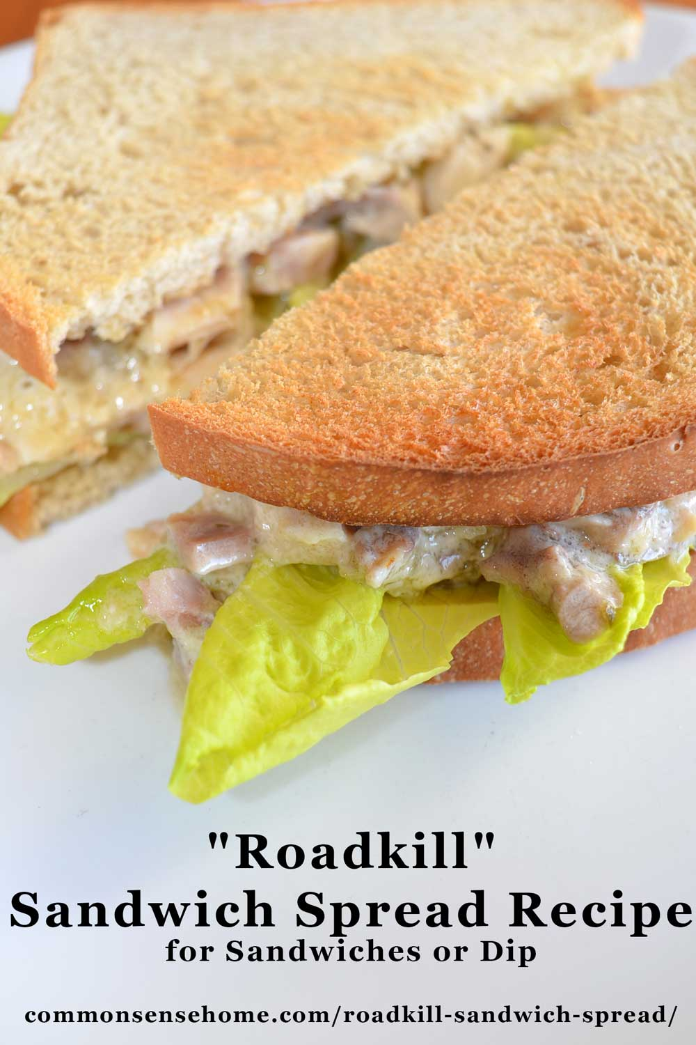 Sandwich made with homemade sandwich spread recipe with mayonnaise