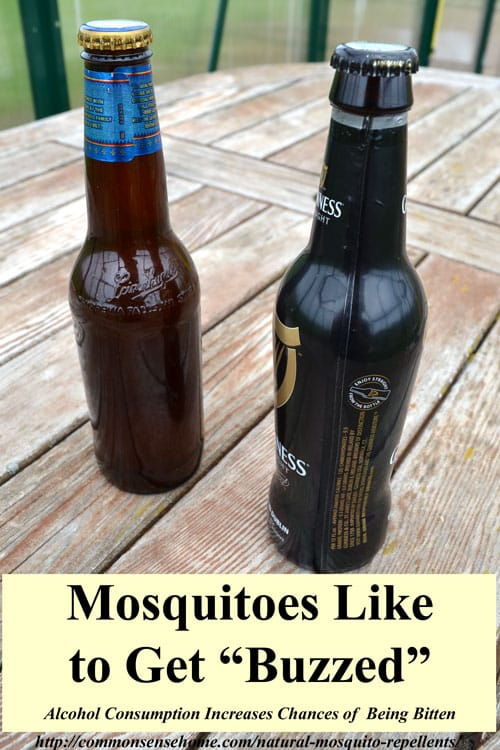 2 Natural Mosquito Repellent Recipes, plus the best herbs for mosquito control, 4 reasons some people get bit more than others and tips to get rid of mosquitoes.