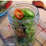 peppers in jar