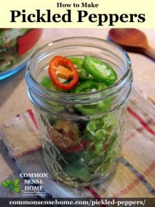 peppers in jar