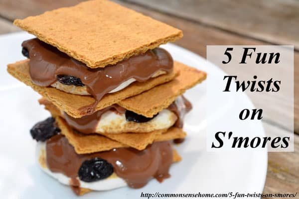 "5 Fun Twists on S'mores. S'mores are the ""go to"" dessert at many a summer camp out and cookout, but who says you can't mix them up a little just for fun?"