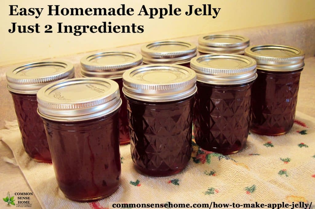 jars of crab apple jelly