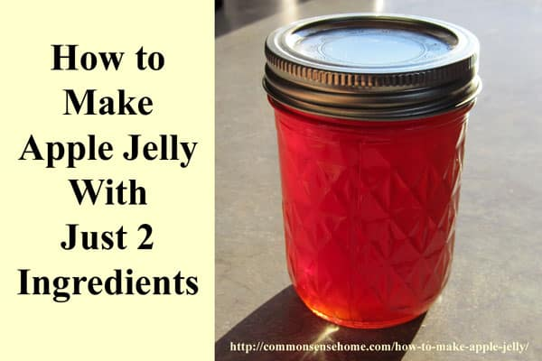 How to Make Apple Jelly - With Just Two Ingredients - This simple jelly is a great way to use up small or damaged apples to make a delicious treat.