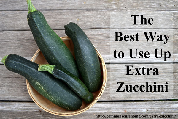 "The Best Way to Use Up Extra Zucchini - Create your own ""Zucchini Swiss Army Knife"" that makes a great addition to dozens of recipes."