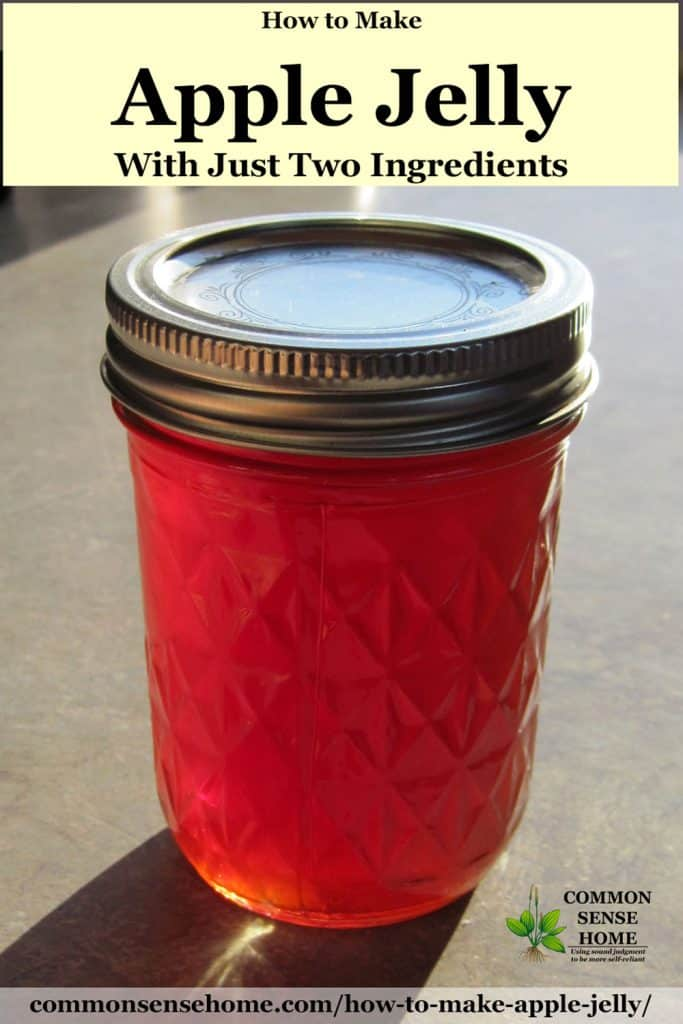 mason jar of apple jelly