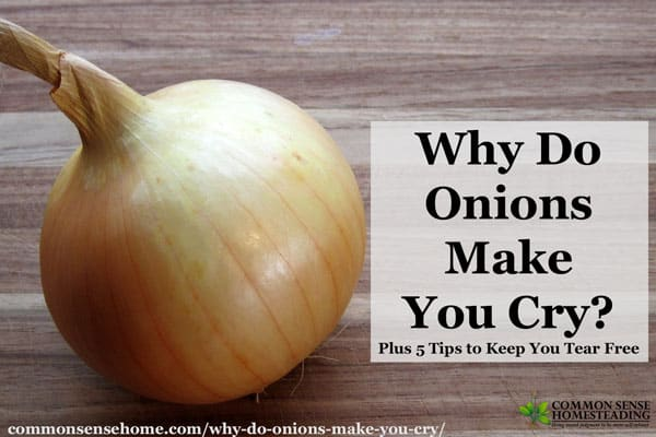 Learn why onions make you cry, health benefits of onions, plus 5 tips to keep you tear free while cutting or chopping onions.