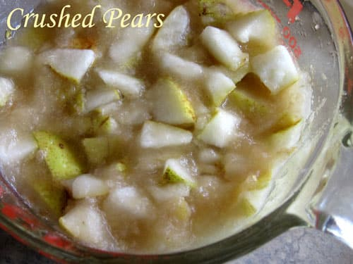 Crushed pears