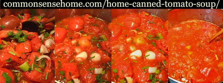 cooking down tomato soup for canning