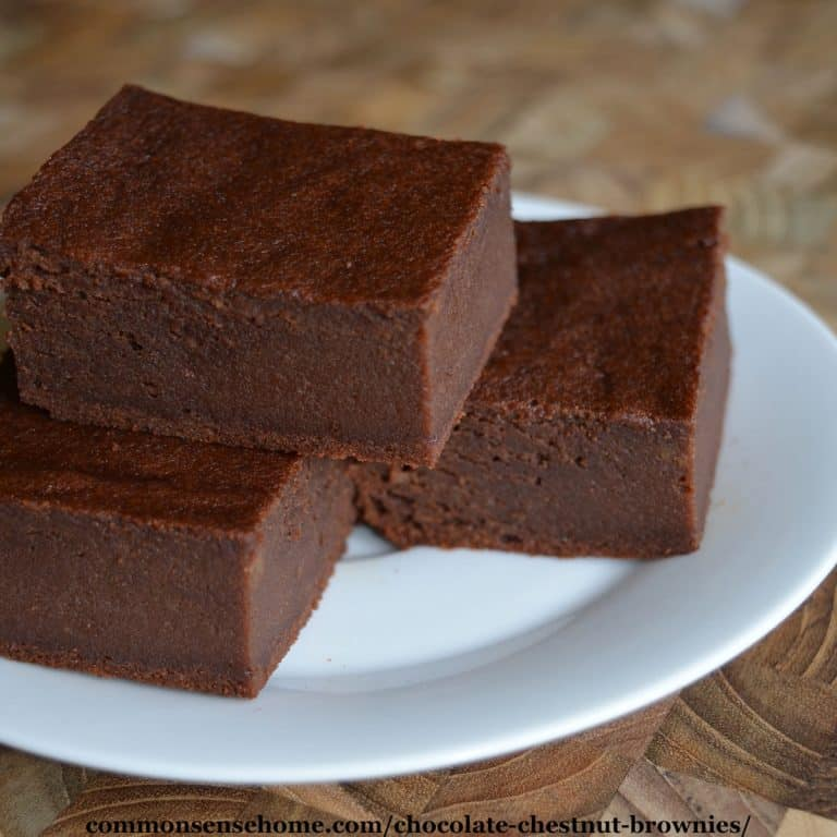 Chocolate Chestnut Brownies – Gluten Free and No Refined Sugar