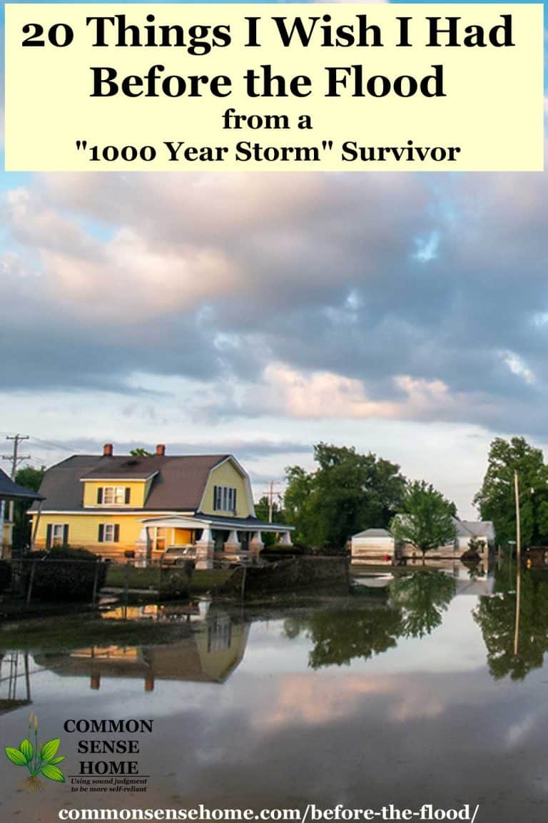 """20 Things I Wish I Had Before the Flood from a """"1000 Year Storm"""" Survivor"""