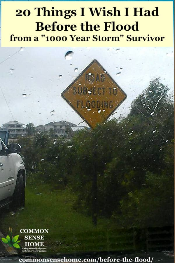 """road subject to flooding"" sign in rainstorm"