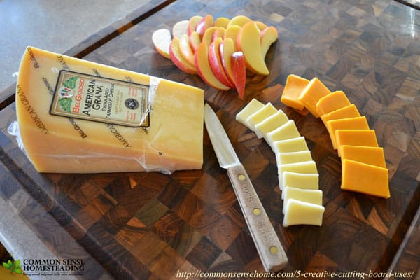 5 Creative Cutting Board Uses - Put your cutting board to work for more than just chopping and slicing in and out of the kitchen. - Serving Tray