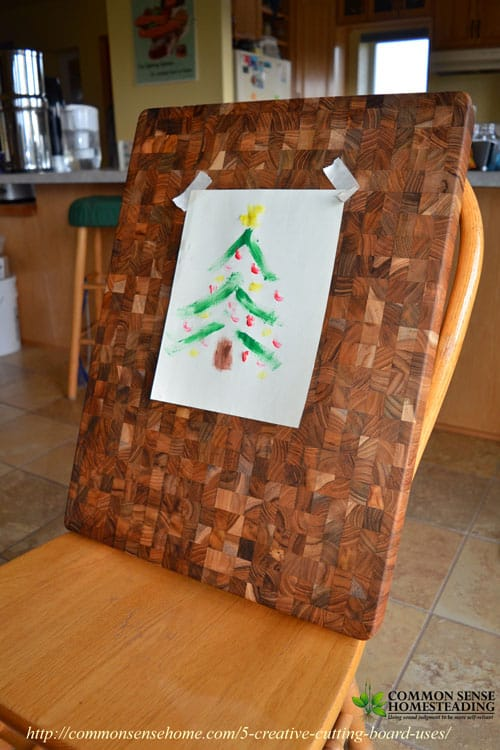 5 Creative Cutting Board Uses - Put your cutting board to work for more than just chopping and slicing in and out of the kitchen. - Art Easel