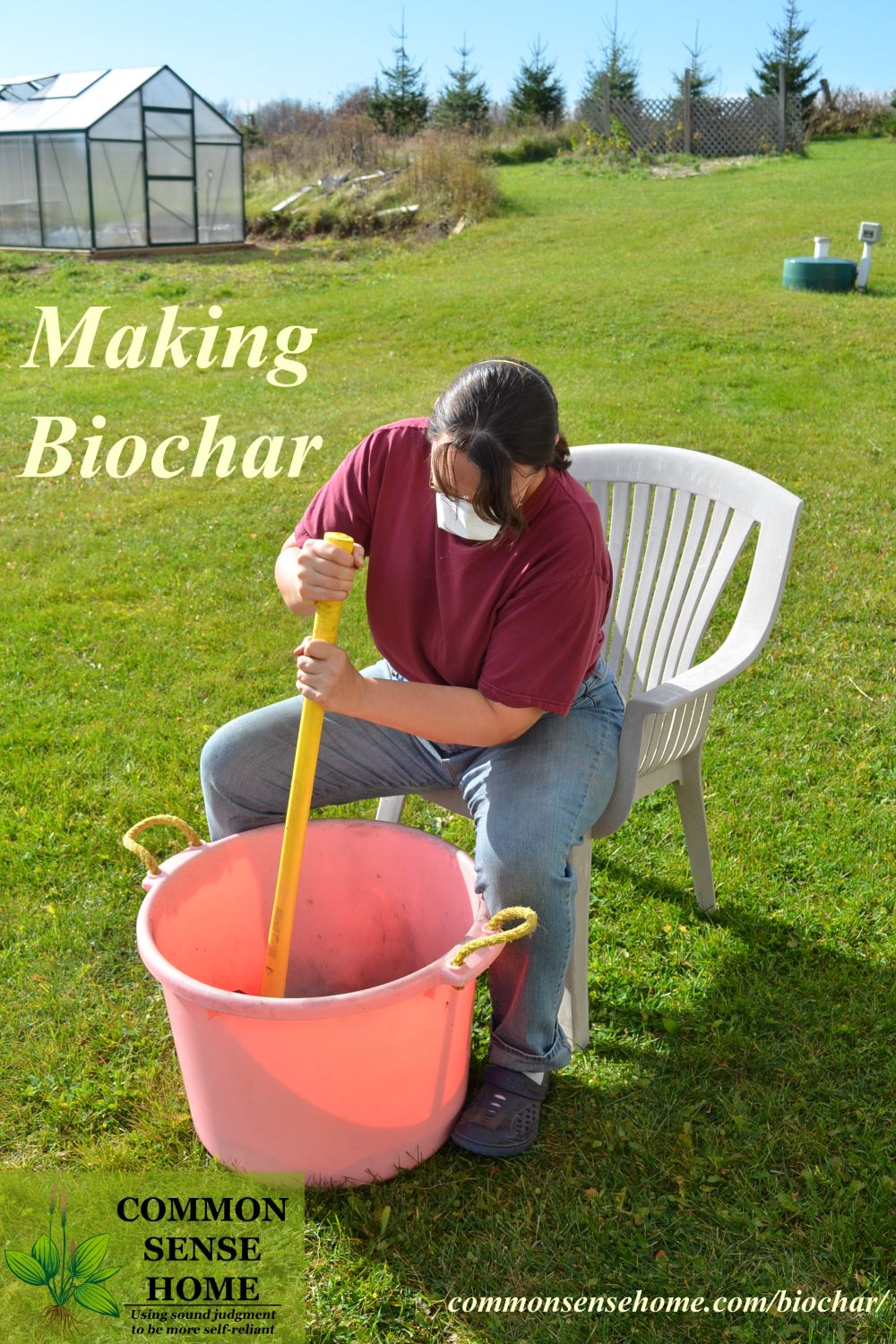 Smashing biochar