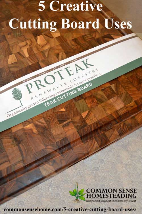 5 Creative Cutting Board Uses - Put your cutting board to work for more than just chopping in and out of the kitchen. Featuring Teakhaus by Proteak.