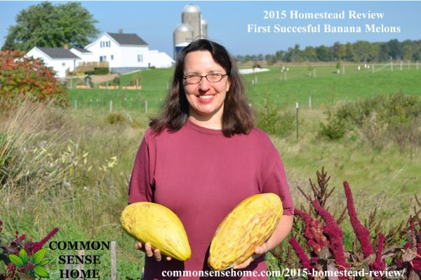 2015 Homestead Review - Laurie with Banana Melons