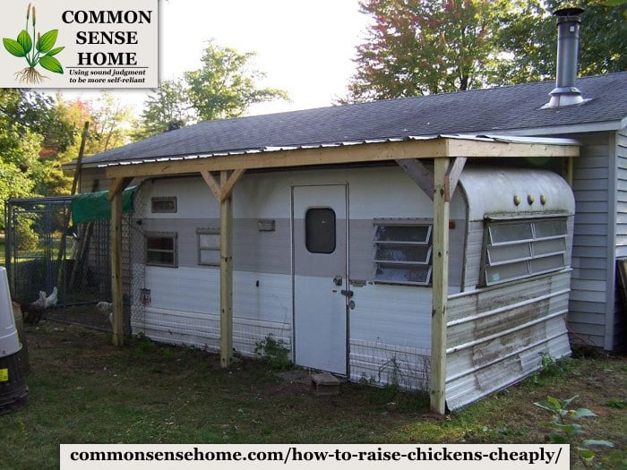 repurposed trailer coop