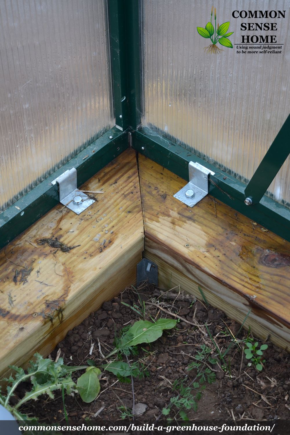 Greenhouse foundation anchors