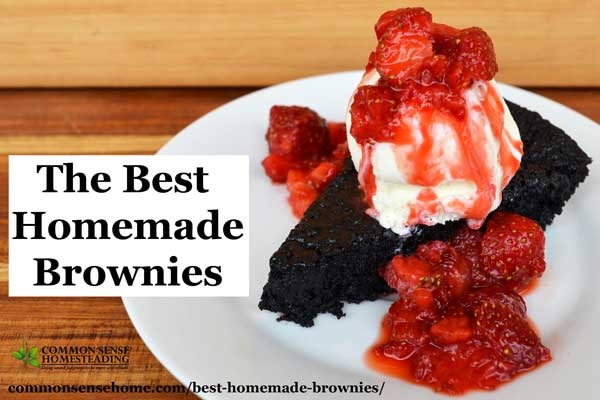 The Best Homemade Brownies – Never Bake Brownies from a Box Again