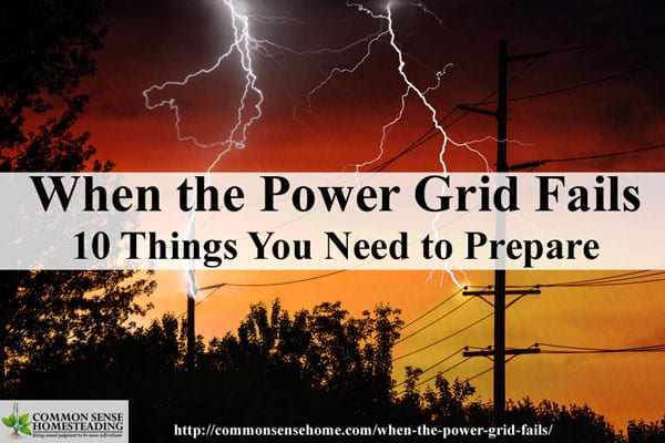 When the Power Grid Goes Down - 10 Things You Need to Prepare for a power outages that disrupt electricity, communications, water and trash pickup.