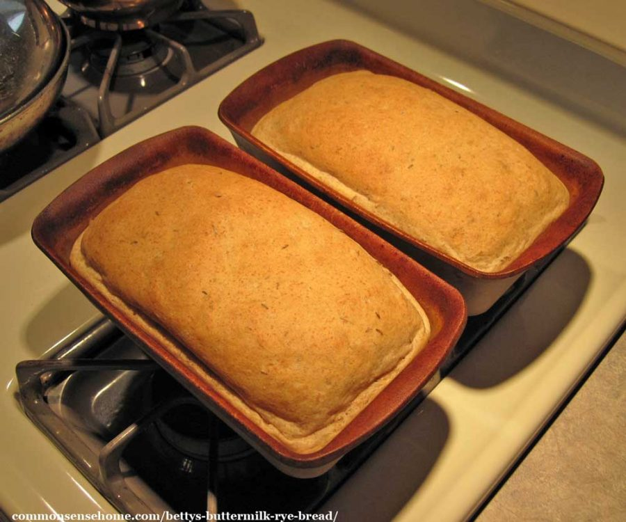 two loaves of rye bread