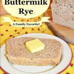"slice of rye bread with butter plus test ""Betty's buttermilk rye"""