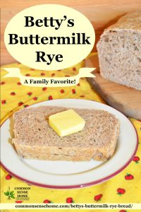 "slice of rye bread with butter plus test ""Betty's buttermilk rye"""
