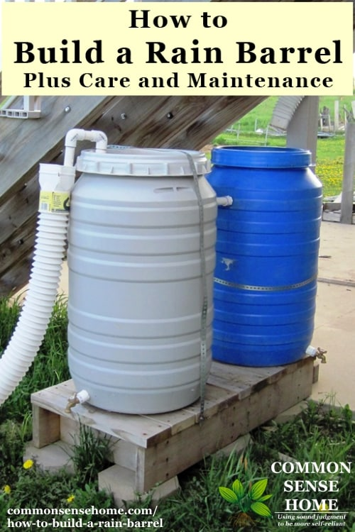 How to Build a Rain Barrel, Plus Care and Maintenance - Using rainwater for your yard and garden helps grow stronger, healthier plants.