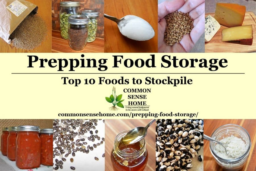 food storage collage