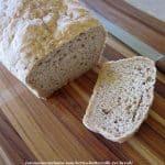 rye bread on cutting board