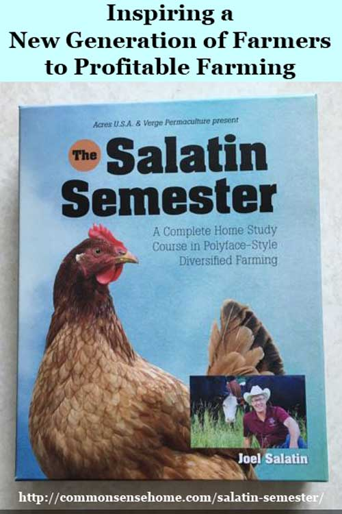 The Salatin Semester is the most comprehensive small farming resource I've reviewed and provides information critical for the survival of the family farm.