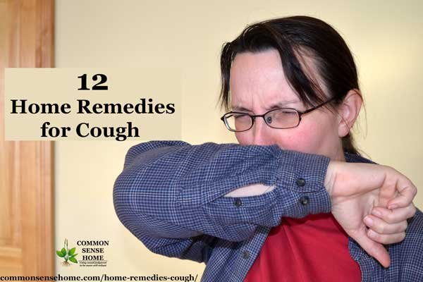 Woman coughing into arm, in need of cough remedy.
