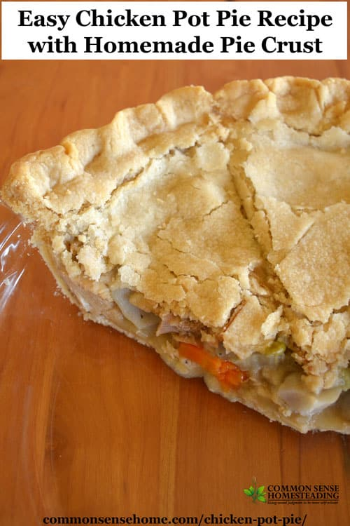 Easy Chicken Pot Pie Recipe With Homemade Pie Crust