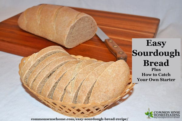 Make this easy sourdough bread recipe from scratch with starter, flour, water and salt. Use your own sourdough starter or buy sourdough starter for baking.