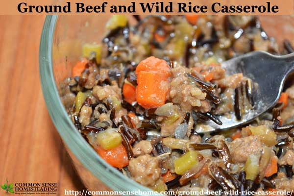 Ground Beef and Wild Rice Casserole – An Easy One Pot Meal