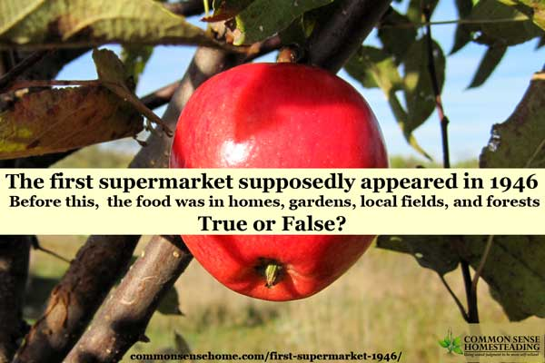 There's a super popular quote from Joel Salatin about the first supermarket that is much beloved by the local food movement - but is it true?
