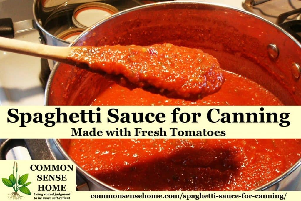 spaghetti sauce for canning made with fresh tomatoes