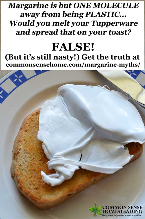 Margarine myths about turkeys and plastic have been spread on the internet that sound awful, but the truth about margarine and transfats is even worse.