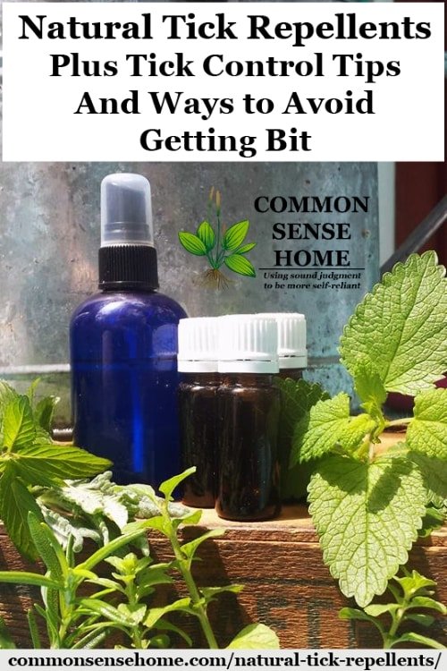 Natural Tick Repellents for humans and dogs using herbs and essential oils, the best ways to control ticks and tips to avoid getting bit by ticks.