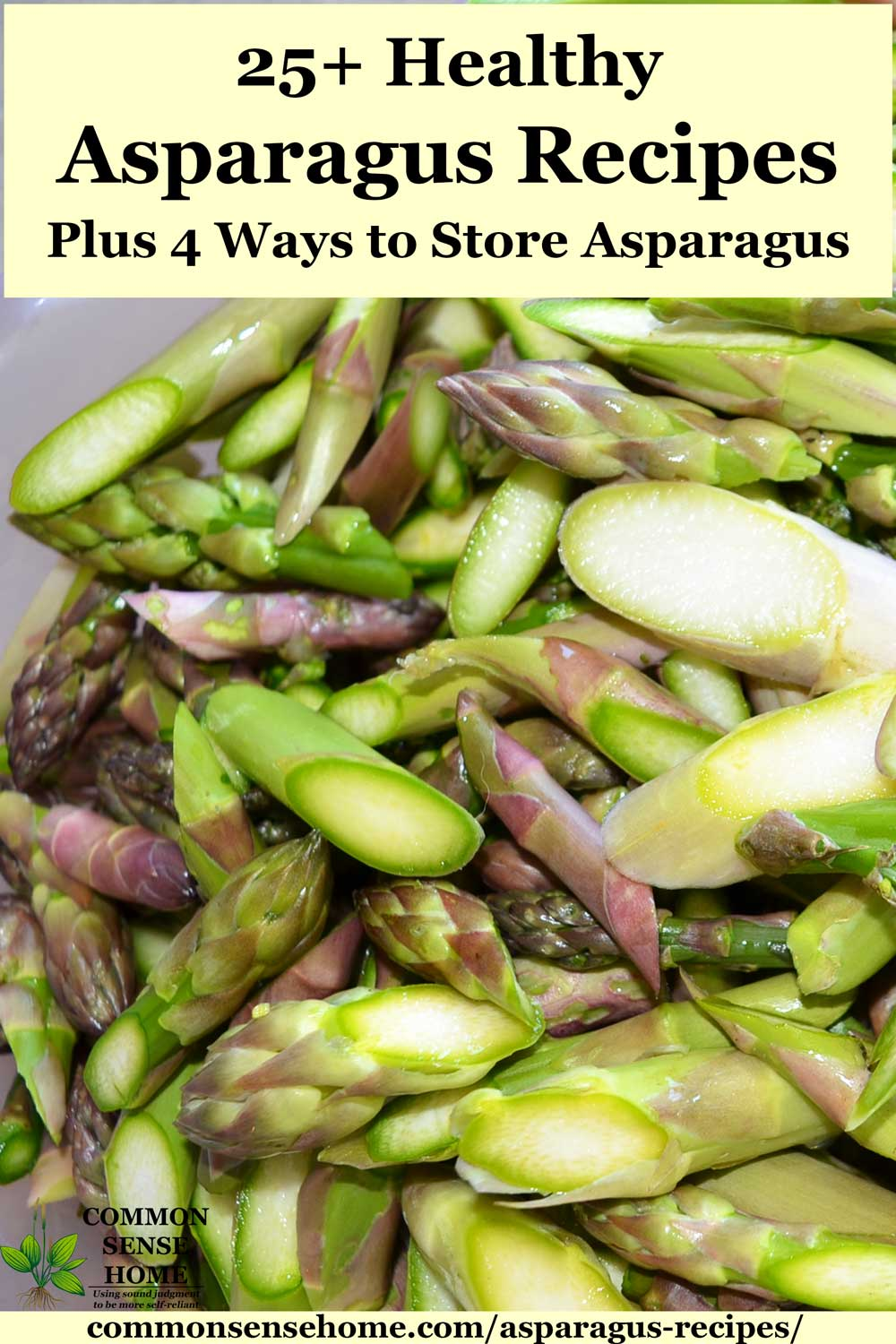 cut and blanched asparagus