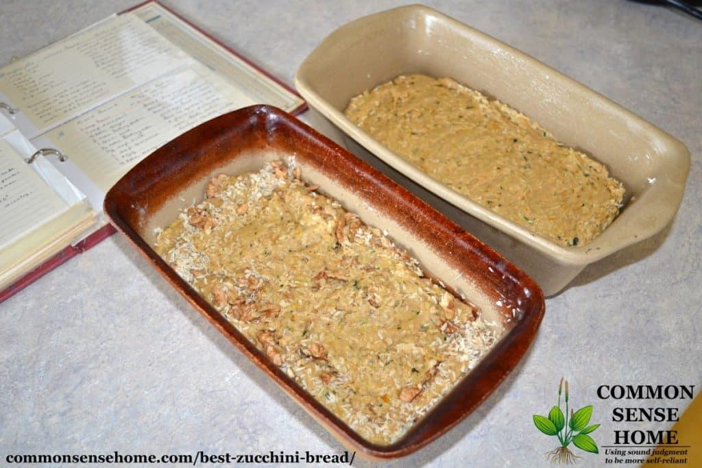 uncooked zucchini bread