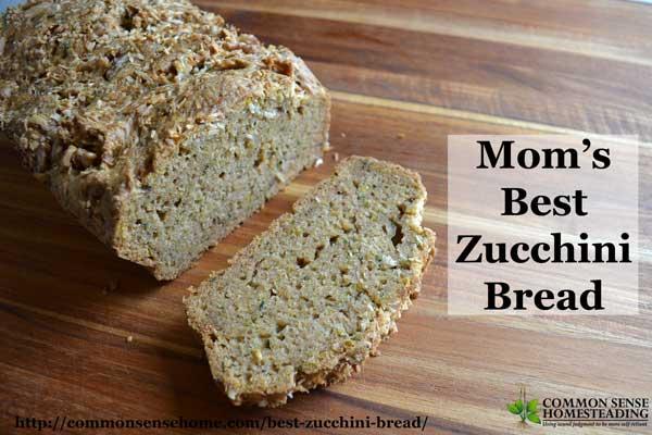 Mom's best zucchini bread recipe was a staple during zucchini season ...